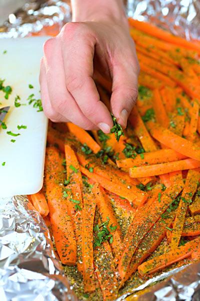 Backofen Karotten Kräuter