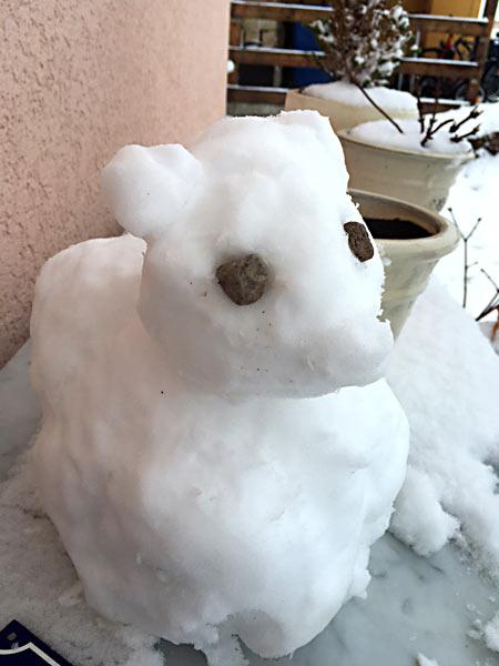 Schneetier Schneemann