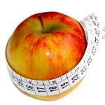 Apfel mit Massband Abnehmen