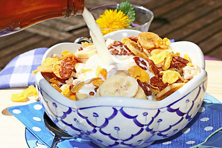Schokomüsli Cornflakes Milch