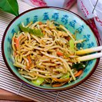 Chinesisches Essen Nudelgericht