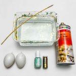 Eier marmorieren Nagellack Anleitung