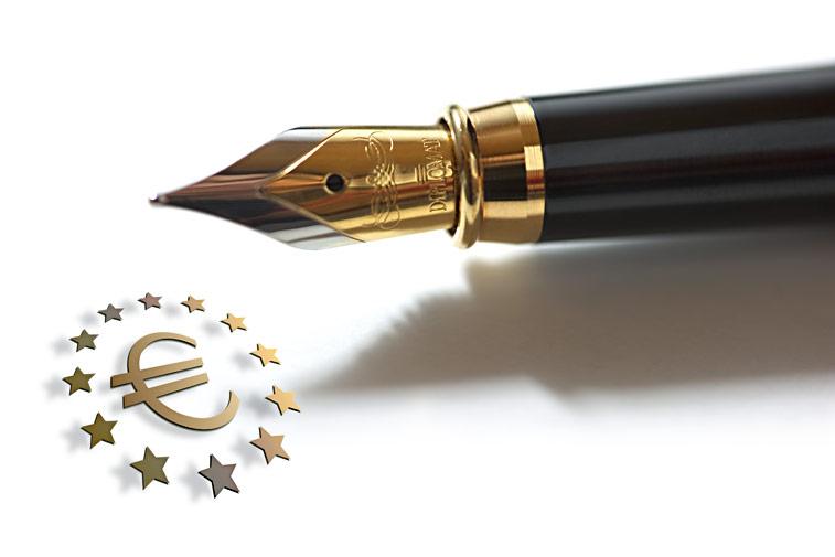 Füller Eurozeichen Euro-E Sterne