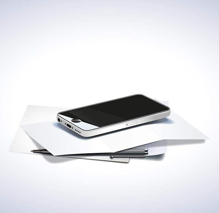 Iphone Smartphone Handy Briefpapier Kugelschreiber