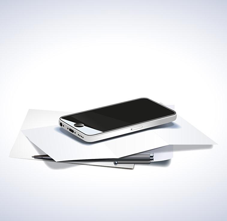 Iphone Smartphone Handy Briefpapier Kugelschreiber