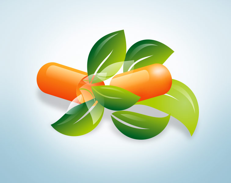 Tabletten pflanzliche Kapseln Blätter