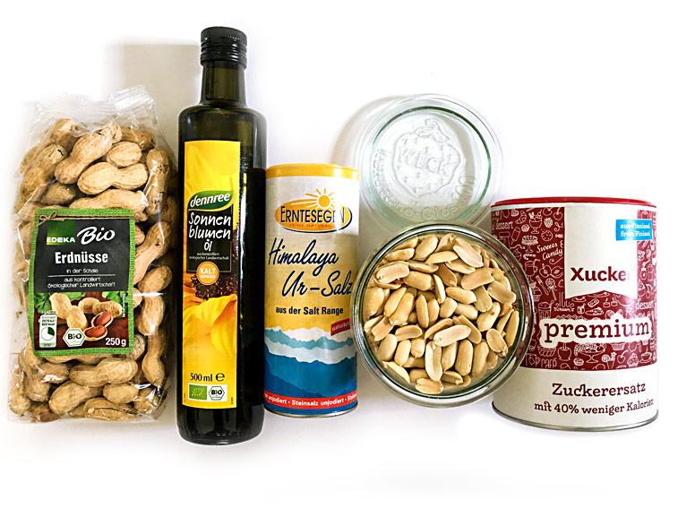 Erdnussbutter Erdnussmus selber machen