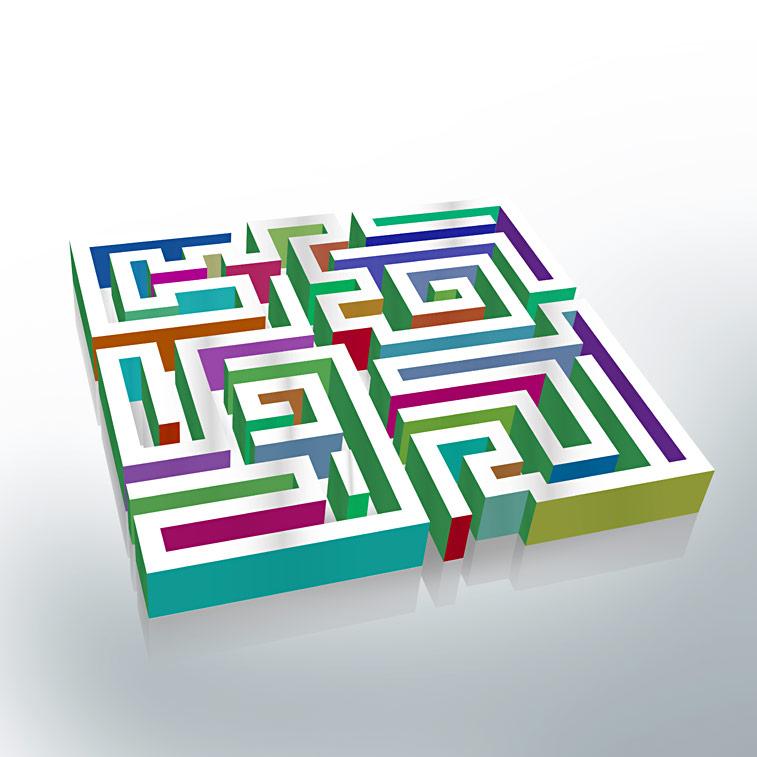 Labyrinth 3D bunt