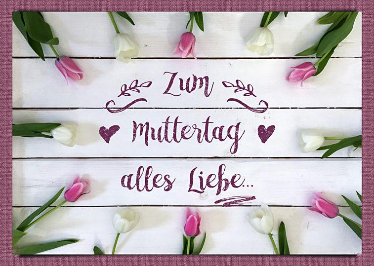 Tulpen Muttertagsgruss alles Liebe