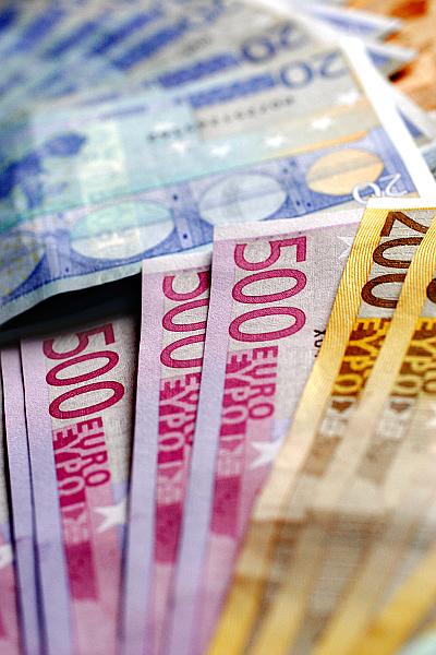 Euroscheine Geldscheine Kapital