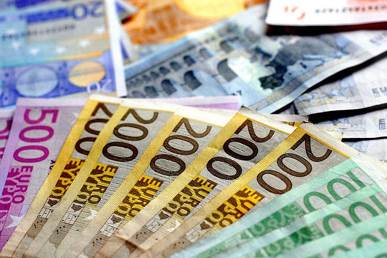 Viel Geld Geldscheinfächer