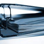 Akten-Ordner Papiere blau