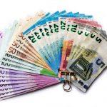 Geldscheine Euroscheine Geldklammer