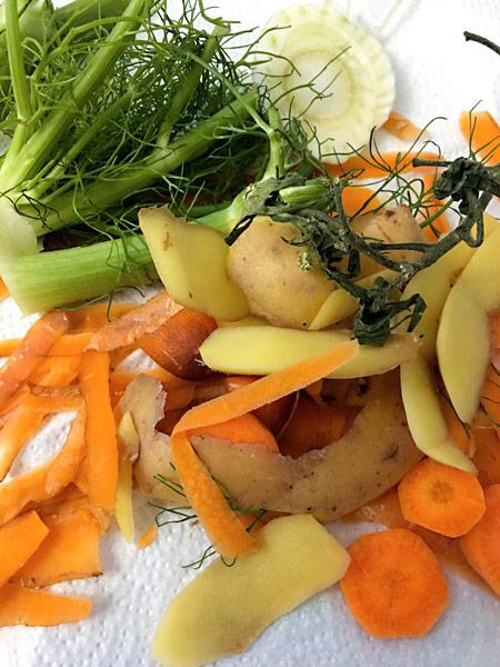 Gemüse Küchenabfälle Biomüll Bio-Abfall