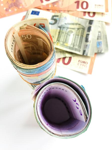 Bündel Geldschein Euroschein Rollen
