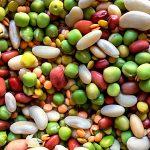 Eingeweichte Hülsenfrüchte Bohnen Linsen Erbsen