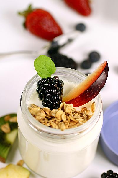 Joghurtglas Müsli Früchte