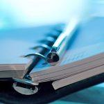 Terminkalender Agenda Filofax blau