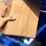 Vorsicht vor Paket Abstellgenehmigung Mülltonne Papiertonne