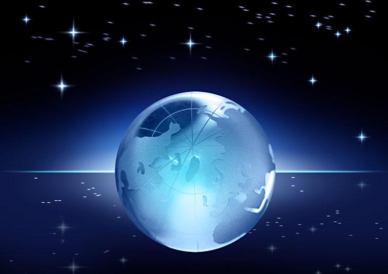 Weltkugel Sternenhimmel