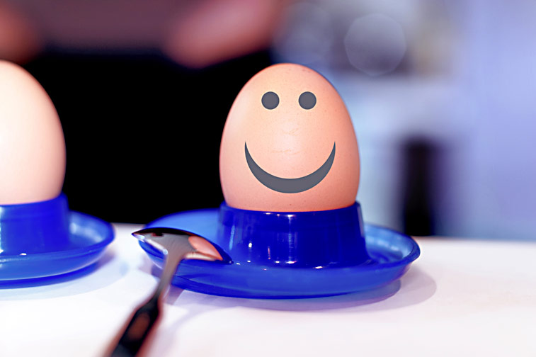 Frühstücksei Smiley