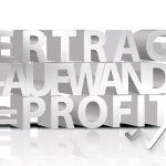 Ertrag Aufwand Profit Börsenkurve weiss