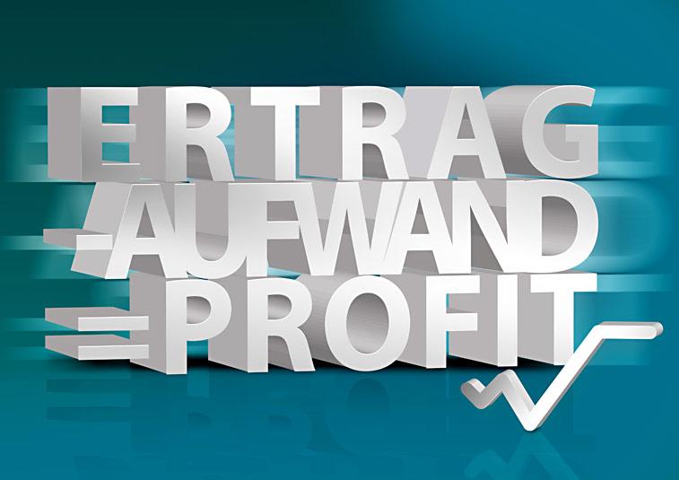 Ertrag Aufwand Profit Börsenkurve