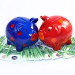 Sparschein Paar Geldscheine