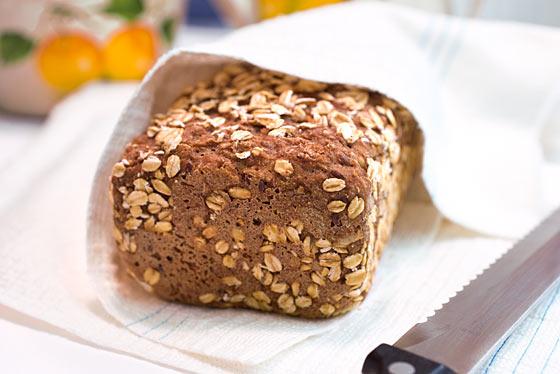 Vollkorn-Brot Haferflocken