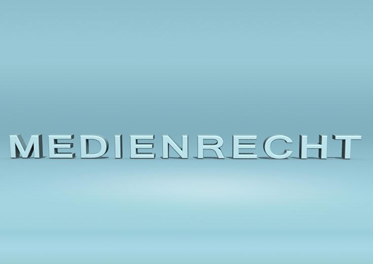 Medienrecht 3D blau