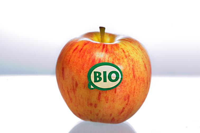 Roter Bio-Apfel