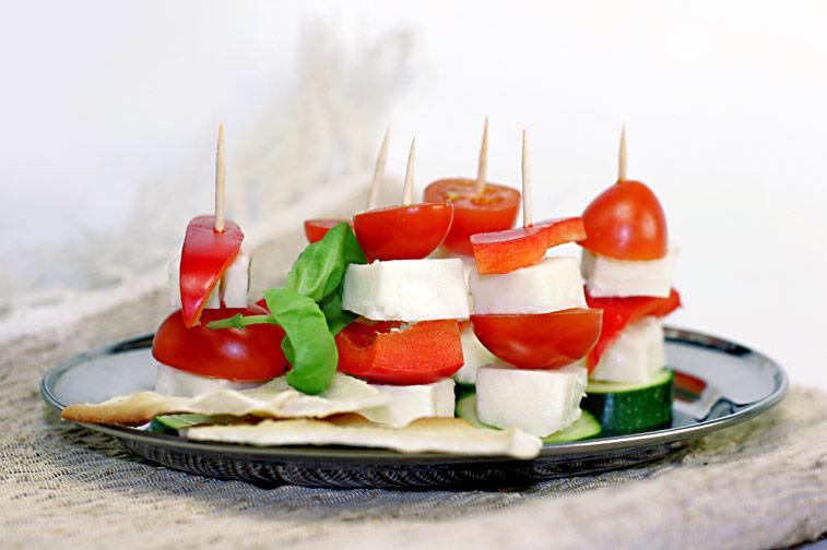 Schafs-Käse-Spiesse Tomaten