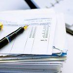 Kontoauszug Briefstapel Füller