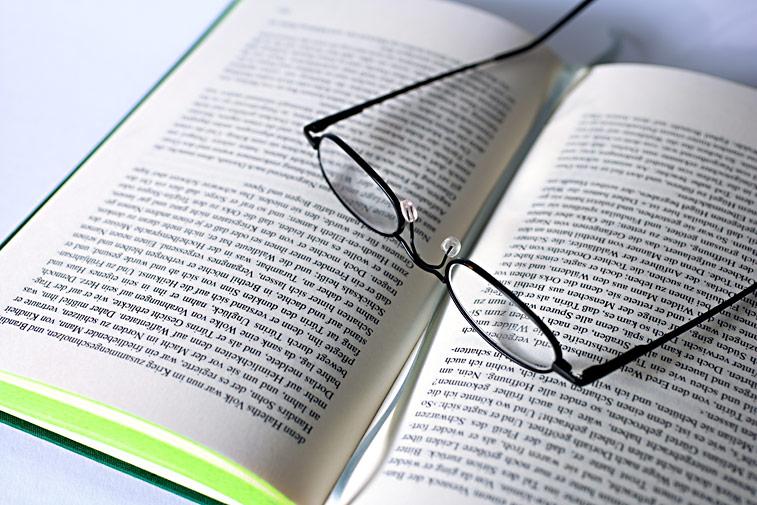Lesebrille Buch