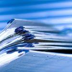 Aktenordner Registermappen blau
