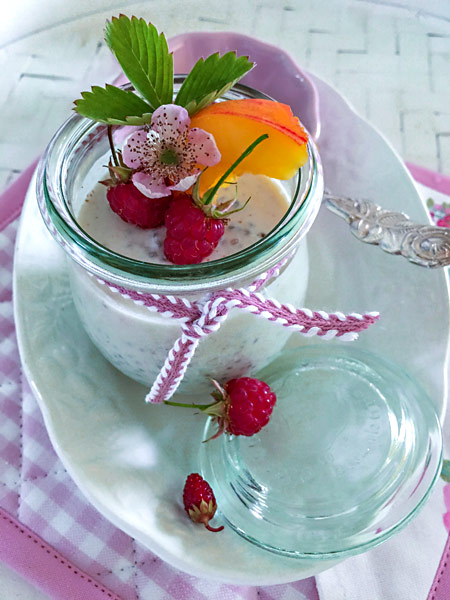 Chia-Pudding Joghurtglas Kokosnussmilch