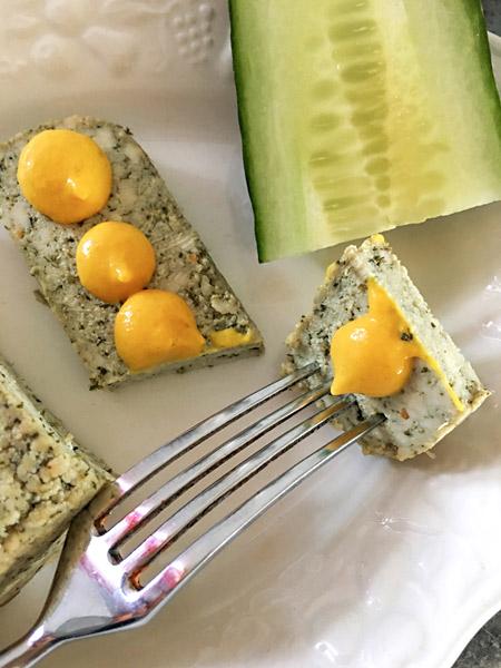 Tofu Senf Gurke Gabel
