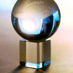 Weltkugel Glas