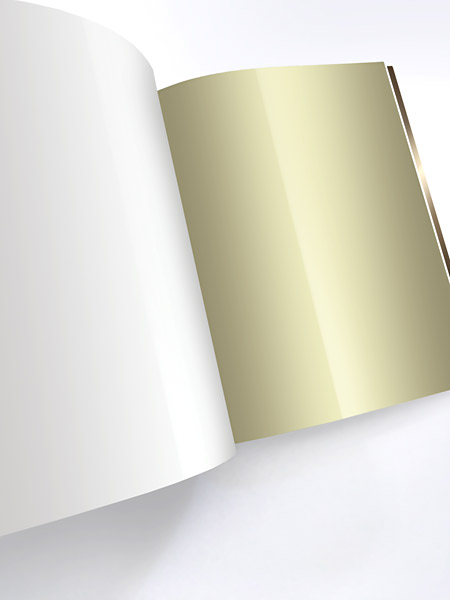 Aufgeschlagenes Buch gold