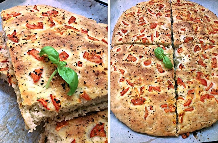 Focaccia Pizza-Brot