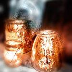 Romantische Windlichter Kerzen Bauernsilber