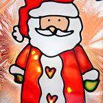 Nikolaus Weihnachtsmann Laterne