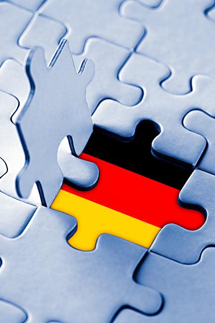 Puzzle-Teil Deutschland-Farben Flagge