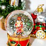 Schneekugel Weihnachten Tannenbaum