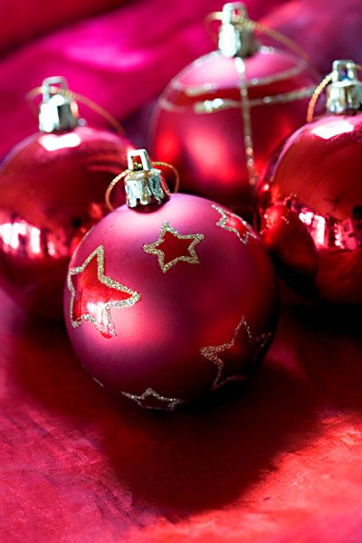 Rote Weihnachtskugeln Christbaumkugeln
