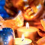 Weihnachtsengel Teelichte gold