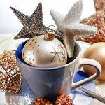Weihnachtskugel Kaffeetasse Weihnachten Sterne