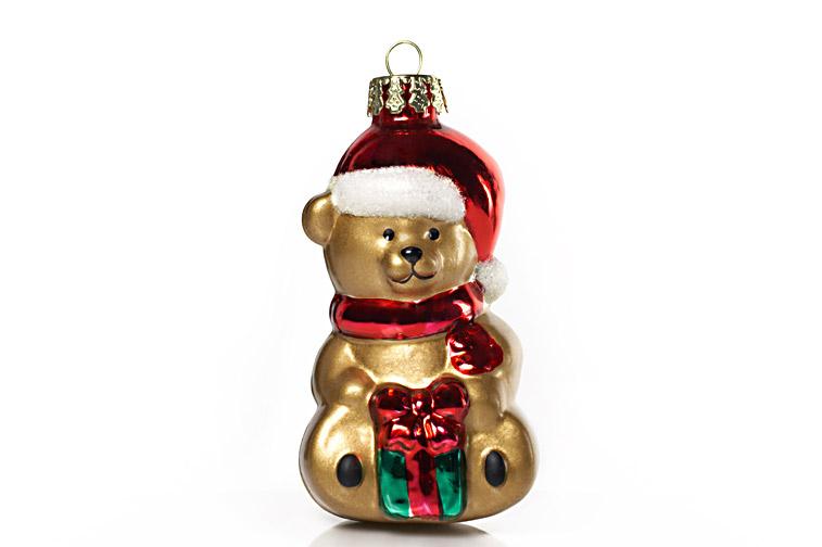 Weihnachtskugel Teddybär