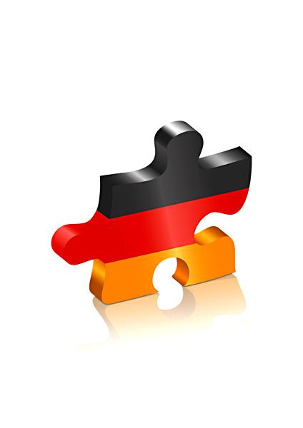 Puzzle Puzzleteil Deutschland Flagge schwarz rot gold