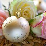 Weihnachtskugel Christbaumkugel Rosen Landhaus Weihnachten Dekoration
